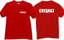 Spetsnaz Russian special forces T-shirt in red II