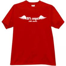 51% Angel Cool T-shirt in red