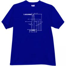 7.62×39mm AK-47 rifle cartridge Weapon T-shirt in blue