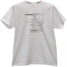 7.62×39mm AK-47 rifle cartridge Weapon T-shirt in gray