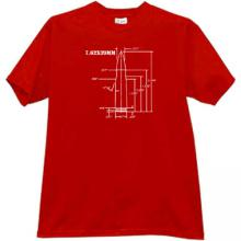 7.62×39mm AK-47 rifle cartridge Weapon T-shirt in red
