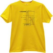 7.62×39mm AK-47 rifle cartridge Weapon T-shirt in yellow