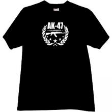 AK-47 Kalashnikov Famous Russian Weapon T-shirt in black
