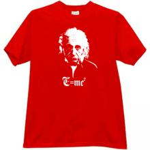 Albert Einstein - MC2 - Cool T-shirt in red