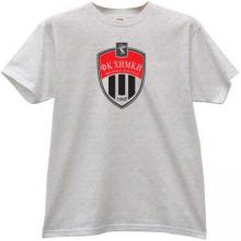 FC Khimki Russian football Club T-shirt in gray