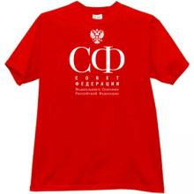 Federation Council of Russia T-shirt in red