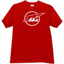 IL (ILYUSHIN Aviation Complex) Cool Russian T-shirt in red