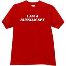 I am a Russian Spy Cool T-shirt in red