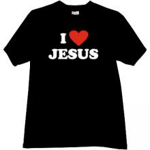 I Love JESUS Cool Christian T-shirt in black