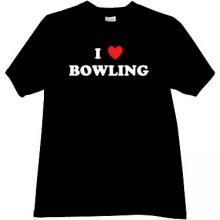 I love Bowling Cool T-shirt in black