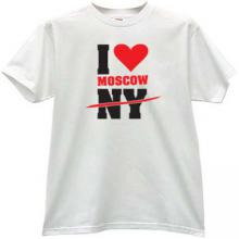 I love Moscow T-shirt in white