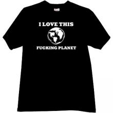 I love this Planet Funny T-shirt in black
