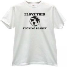 I love this Planet Funny T-shirt in white