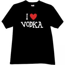 I love Vodka Cool T-shirt in black