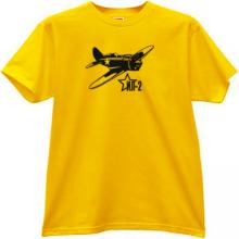 Ilyushin IL-2 Russian ground-attack aircraft WWII T-shirt in yel