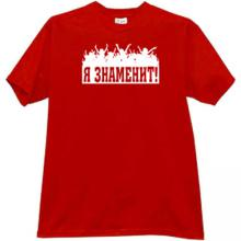 Im Famous Russian T-shirt in red