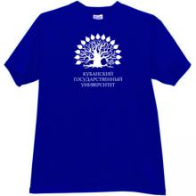 Kuban State University Russian T-shirt in blue