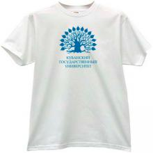 Kuban State University Russian T-shirt in white