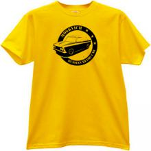 MOSKVICH Russian Retro Car T-shirt in yellow