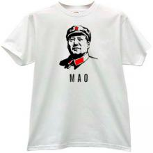 Mao Zedong Chinese communist revolutionary T-shirt in white