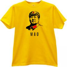 Mao Zedong Chinese communist revolutionary T-shirt in yellow