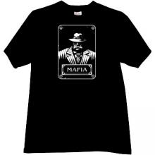 New Mafia Gangster T-shirt in black