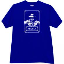 New Mafia Gangster T-shirt in blue