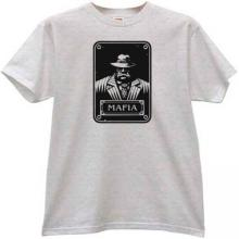 New Mafia Gangster T-shirt in gray