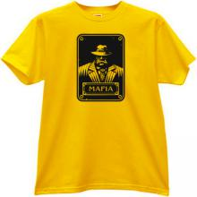 New Mafia Gangster T-shirt in yellow