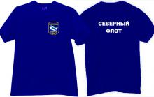 Northern Fleet Russian Army T-shirt in blue