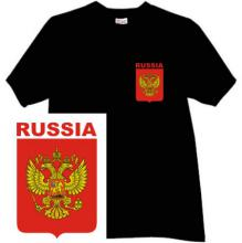 Russian T-shirt with Blazon of the Russia