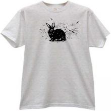 Rabbit grunge animal T-shirt