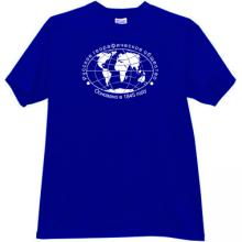 Russian Geographical Society Cool Russian T-shirt in blue