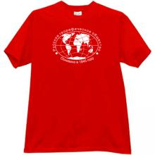 Russian Geographical Society Cool Russian T-shirt in red