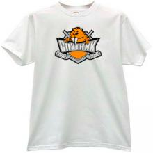 Sputnik Nizhny Tagil Russian Hockey Club T-shirt in white
