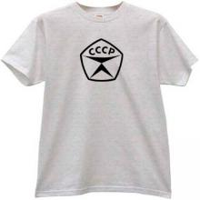 State quality mark of the USSR CCCP Soviet Russian T-shirt in g