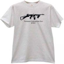 Thompson Submachine Gun M1921 Cool T-shirt in gray