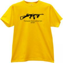 Thompson Submachine Gun M1921 Cool T-shirt in yellow
