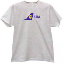 UIA Ukraine International Airlines T-shirt in gray