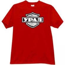 Styled Ural Russian Motorcycles T-shirt in red