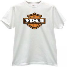 Styled Ural Russian Motorcycles T-shirt in white