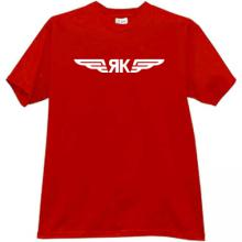 Yak Aircraft Corporation Logo Russian T-shirt in red