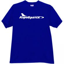 AeroBratsk Russian Airlines T-shirt in blue