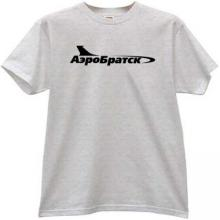 AeroBratsk Russian Airlines T-shirt in gray