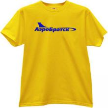 AeroBratsk Russian Airlines T-shirt in yellow