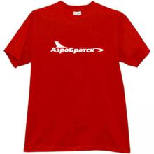 AeroBratsk Russian Airlines T-shirt in red