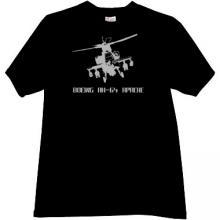 Boeing AH-64 Apache Helicopter T-shirt in black
