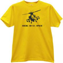 Boeing AH-64 Apache Helicopter T-shirt in yellow