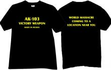 AK 103 VICTORY WEAPON Cool T-shirt in black
