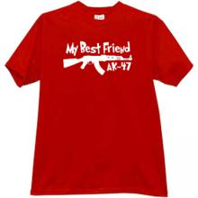 My Best Friend AK-47 Funny T-shirt in red